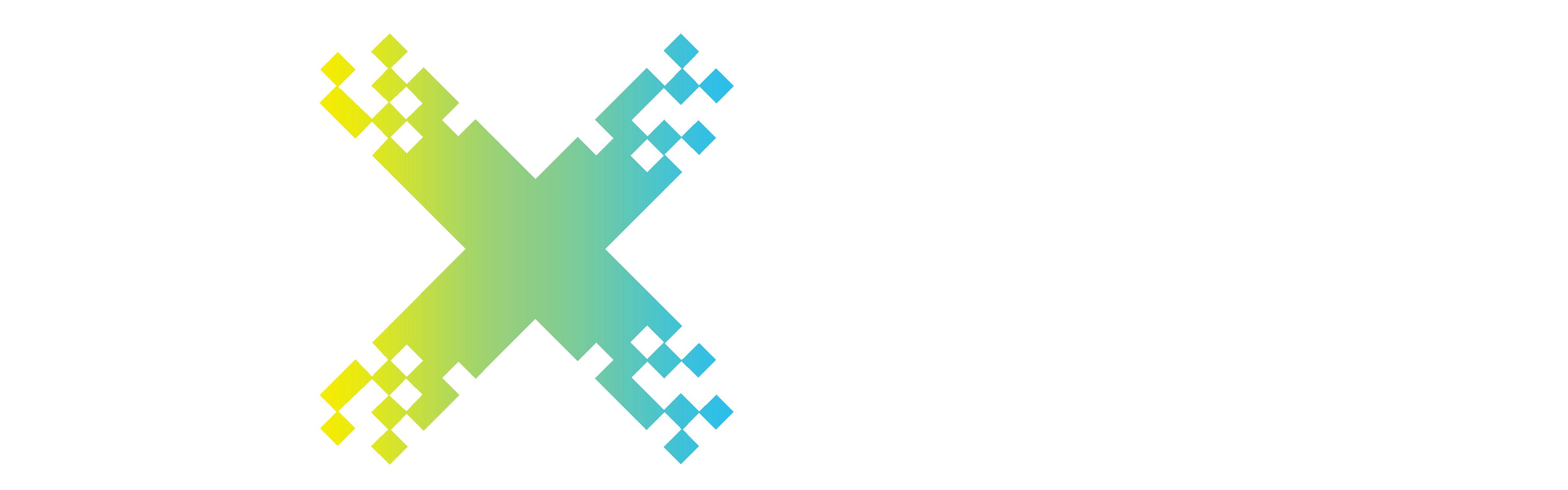 pixelize logo white